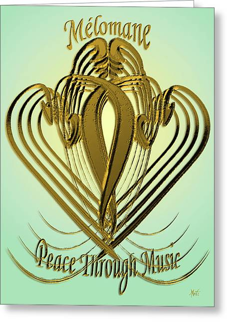 Talmud Greeting Cards - Melomane - Peace Through Music Greeting Card by Michele  Avanti