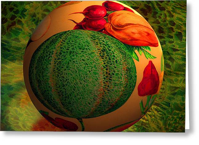 Melon Digital Greeting Cards - Melon Ball  Greeting Card by Robin Moline