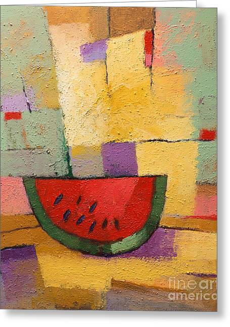 Red Wine Greeting Cards - Melon Greeting Card by Lutz Baar