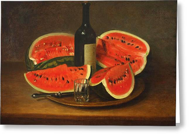 Melon Paintings Greeting Cards - Melon Platter Greeting Card by Stahl