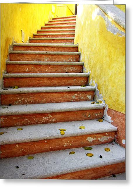 Melon Greeting Cards - Melon Steps Greeting Card by Marilyn Hunt