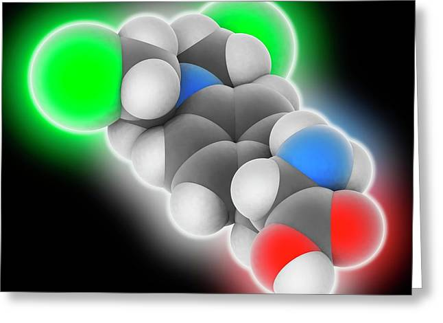 Melphalan Drug Molecule Greeting Card by Laguna Design