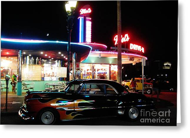 Mels Drive In Greeting Cards - Mels Diner Number Three Greeting Card by John Malone
