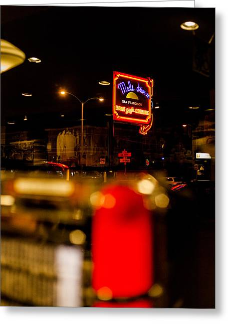 Mels Drive-in Photographs Greeting Cards - Mels Drive-In 2 Greeting Card by SFPhotoStore