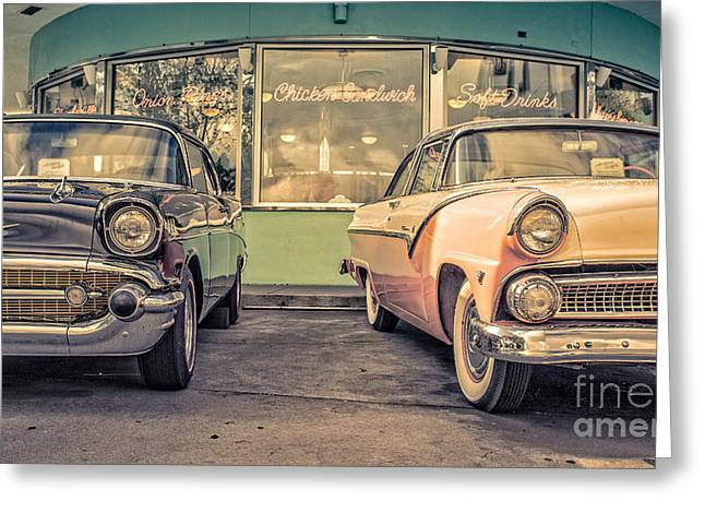 Amusements Greeting Cards - Mels Drive-In Greeting Card by Edward Fielding