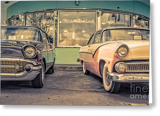 Soft Drink Greeting Cards - Mels Drive-In Greeting Card by Edward Fielding