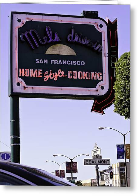 Mels Drive In Greeting Cards - Mels Drive-in Greeting Card by Jose Ramirez