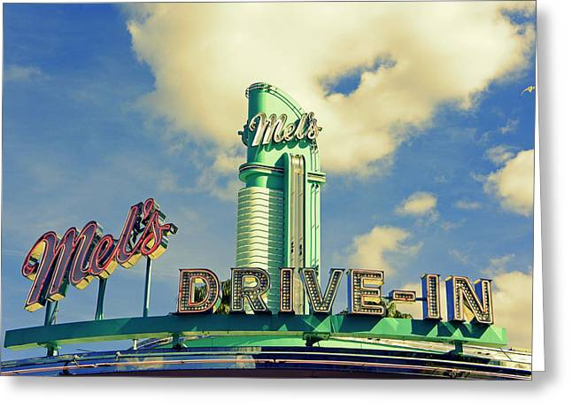 Mels Drive In Greeting Cards - Mels Greeting Card by Laurie Perry