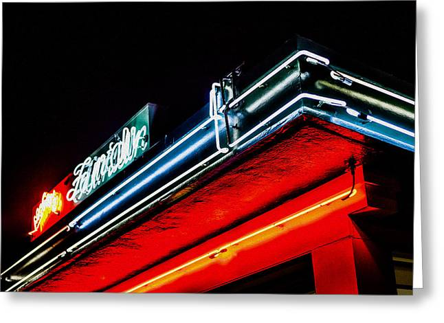 Mels Drive-in Photographs Greeting Cards - Mels Neon Greeting Card by SFPhotoStore