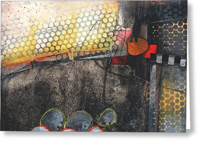 Graphic Mixed Media Greeting Cards - Melt Down Greeting Card by Laura  Lein-Svencner