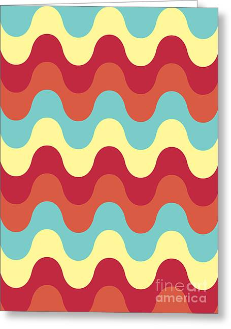 Melted Digital Greeting Cards - Melting colors Pattern Greeting Card by Freshinkstain