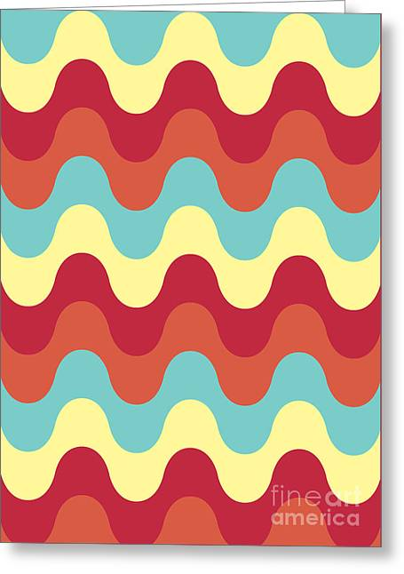Melting Colors Pattern Greeting Card by Freshinkstain