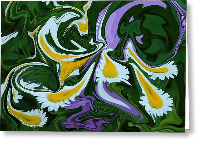Greens Greeting Cards - Melting Daisies Greeting Card by Aimee L Maher Photography and Art