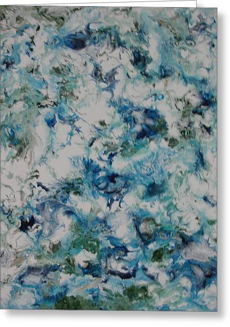 Aeriel View Paintings Greeting Cards - Melting Ice 2 Greeting Card by Bruce Brand