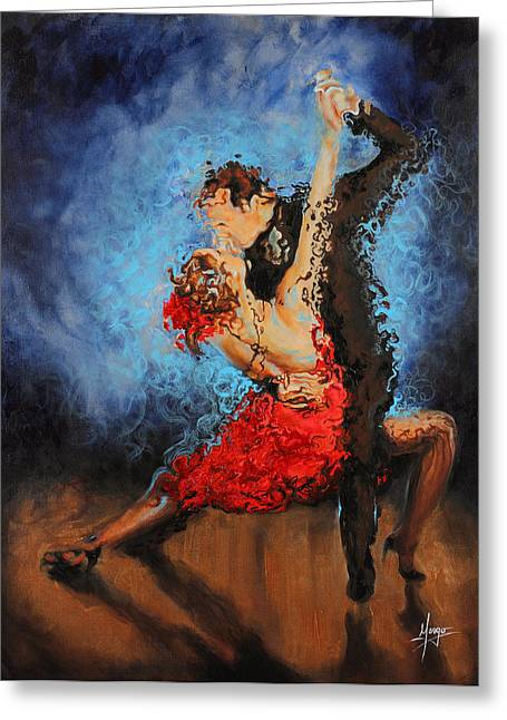 Dance Greeting Cards - Melting Greeting Card by Karina Llergo Salto