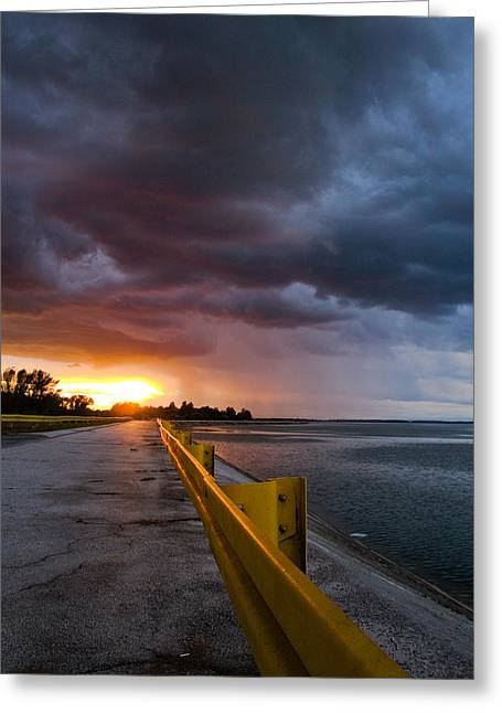 Yellow Line Greeting Cards - Melting point Greeting Card by Davorin Mance