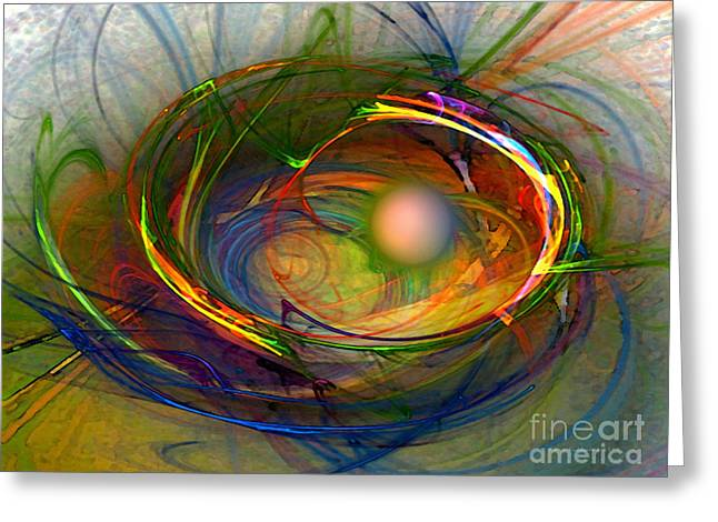 Orientation Greeting Cards - Melting Pot-Abstract Art Greeting Card by Karin Kuhlmann