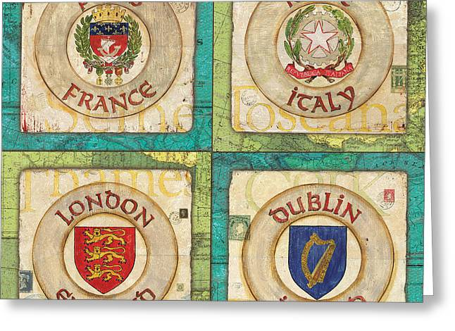 France Map Greeting Cards - Melting Pot Patch Greeting Card by Debbie DeWitt