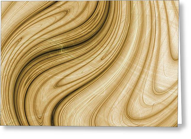 Dali Inspired Greeting Cards - Melting wood - Dali inspired Greeting Card by Pennie Gibson