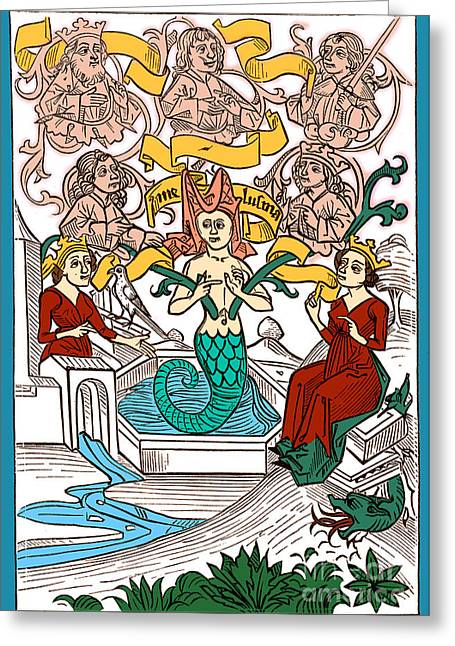 The Sacred Feminine Greeting Cards - Melusine, Legendary Creature Greeting Card by Photo Researchers