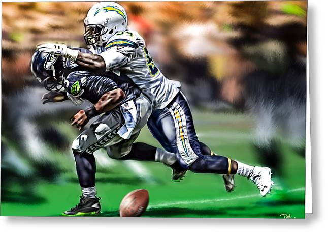 Sec Conference Greeting Cards - Melvin Ingram Greeting Card by Don Olea