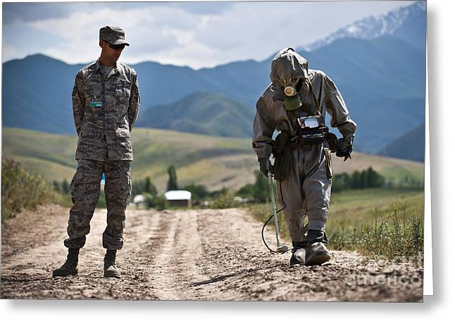 Cooperation Greeting Cards - Member Of The Kyrgyz Republic Searches Greeting Card by Stocktrek Images