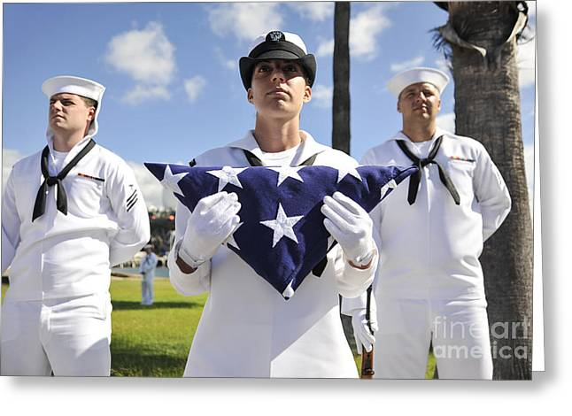 Hickam Greeting Cards - Members Of The Joint Base Pearl Greeting Card by Stocktrek Images