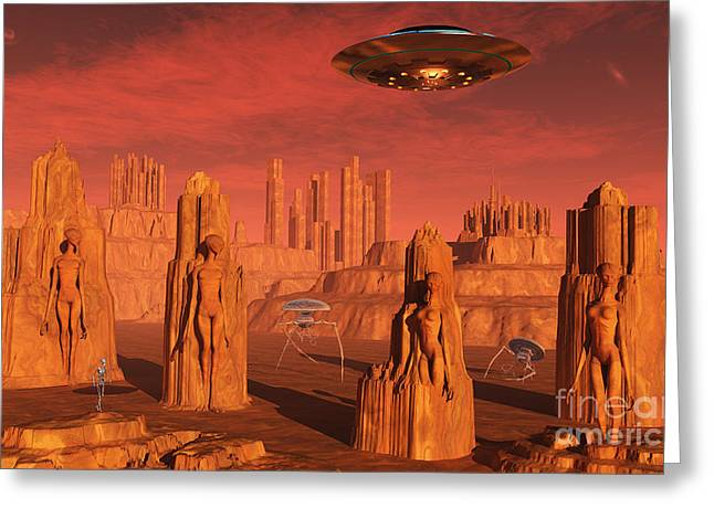Arid Life Digital Art Greeting Cards - Members Of The Planets Advanced Greeting Card by Mark Stevenson