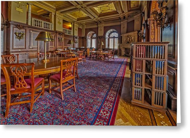 Library Of Congress Greeting Cards - Members Room Library Of Congress Greeting Card by Susan Candelario