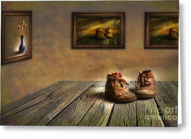 Old Home Place Greeting Cards - Mementos Exhibition Greeting Card by Veikko Suikkanen
