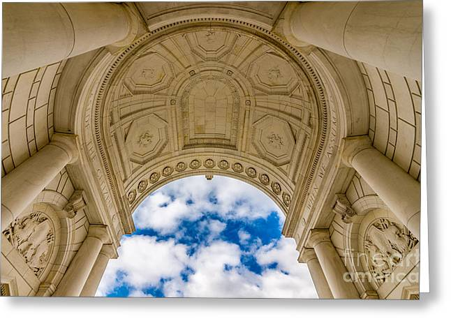 Soldiers National Cemetery Greeting Cards - Memorial Amphitheater Arlington National Cemetery Greeting Card by Gary Whitton