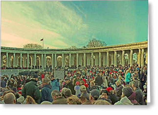 Ultimate Sacrifice Greeting Cards - Memorial Amphitheater at Arlington National Cemetery Greeting Card by Tom Gari Gallery-Three-Photography