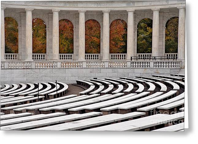 Soldiers National Cemetery Digital Art Greeting Cards - Memorial Amphitheater Greeting Card by Jerry Fornarotto