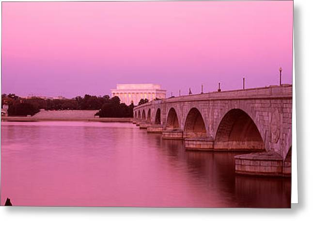 Arlington Greeting Cards - Memorial Bridge, Washington Dc Greeting Card by Panoramic Images