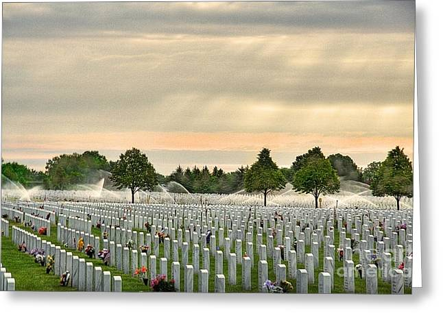 Memorial Day Fort Snelling Greeting Card by Wayne Moran