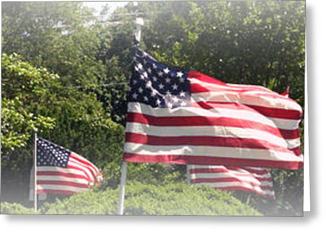 4th July Photographs Greeting Cards - Memorial day Greeting Card by James Barrere