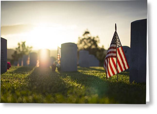 Headstones Greeting Cards - Memorial Day Greeting Card by Mountain Dreams