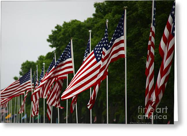 Memorial Day Remembering Those Who Gave The Ultimate Sacrifice Greeting Card by Wayne Moran
