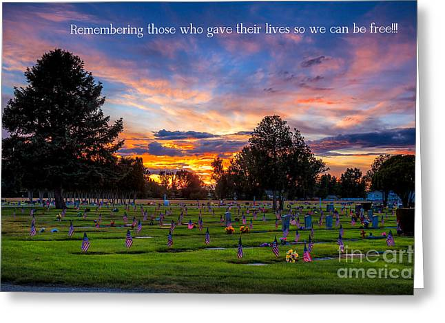 Haybales Greeting Cards - Memorial Day Remembrance Greeting Card by Robert Bales