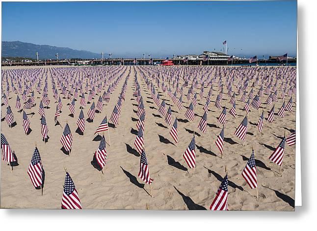 September 11th Attacks Greeting Cards - Memorial for 911 Santa Barbara CA 2010 Greeting Card by David Litschel