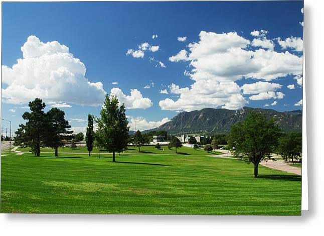 Nountains Greeting Cards - Memorial Park Greeting Card by Richard Risely