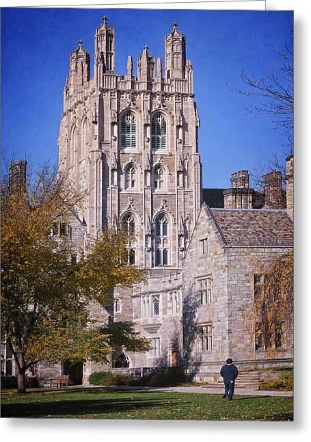 Memorial Quadrangle Yale University Greeting Card by Joan Carroll