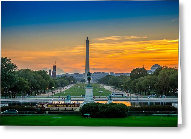 Memorial Greeting Cards - Memorial Sunset Greeting Card by Dado Molina