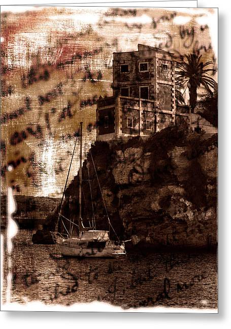 Lonelyness Greeting Cards - Memories By The Sea Greeting Card by Pedro Cardona