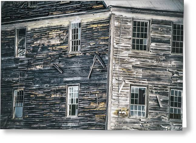 Old Maine Houses Greeting Cards - Memories Dilapidated Greeting Card by Richard Bean