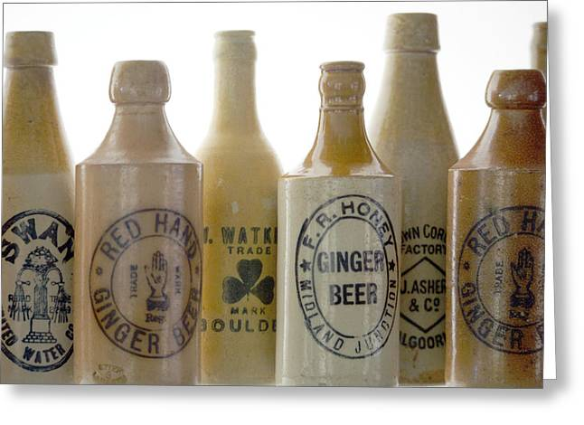 Stoneware Photographs Greeting Cards - Memories in a Bottle Greeting Card by Holly Kempe