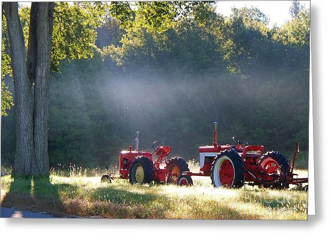Maine Agriculture Digital Art Greeting Cards - Memories Greeting Card by Joy Nichols