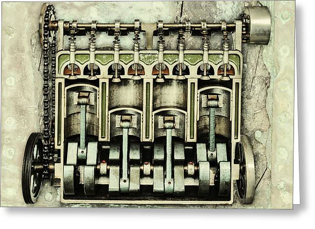 Camshaft Greeting Cards - Memories of a classic Car I Greeting Card by Martin Bergsma
