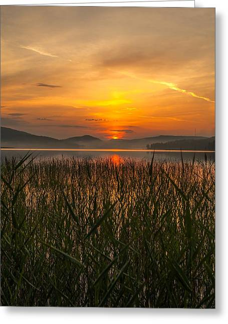 Recently Sold -  - Sunset In Norway Greeting Cards - Memories Of A Sunset 2 Greeting Card by Rose-Maries Pictures