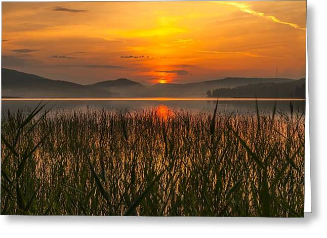 memories of a sunset 2 Greeting Card by Rose-Maries Pictures